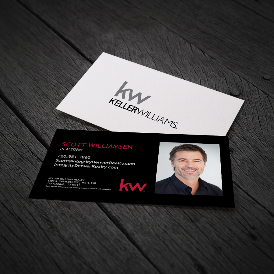 Simple black kw business card wphoto mc000 agentstore simple black kw business card colourmoves